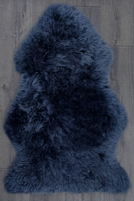 Royal Blue Single Sheepskin Rug