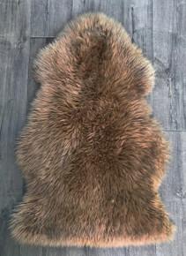 Toffee single sheepskin rug