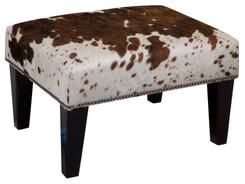 2ft x 1.5ft Cowhide Footstool / Ottoman FST765
