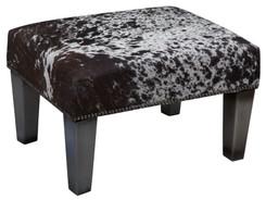 2ft x 1.5ft Cowhide Footstool / Ottoman FST768