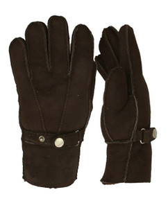 Men's Sheepskin Gloves in brown