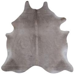 pale grey cowhide rug