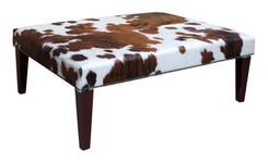4ft x 3ft Cowhide Footstool / Ottoman FST049-21