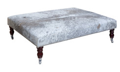 4ft x 3ft Cowhide Footstool / Ottoman FST055-21