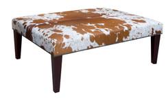 4ft x 3ft Cowhide Footstool / Ottoman FST056-21