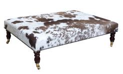 4ft x 3ft Cowhide Footstool / Ottoman FST059-21