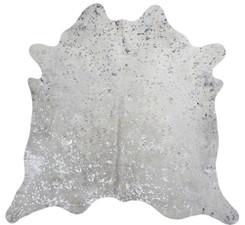 Silver Metallic Cowhide Rug SMET104-21 (235cm x 185cm)