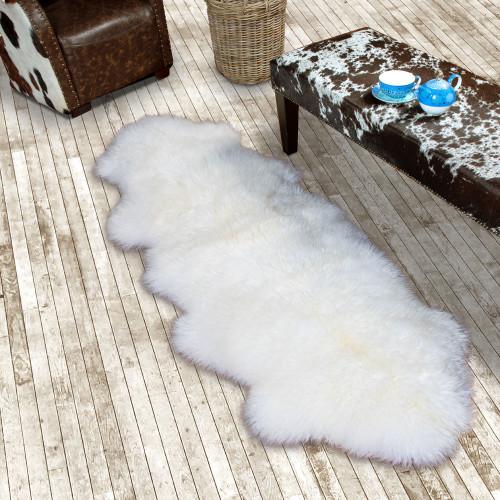 White/Ivory Double Sheepskin Rug
