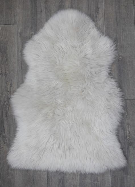 Ice Grey Single Sheepskin Rug