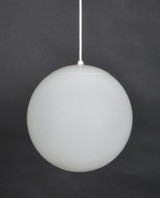 12 Inch Globe Pendant (shown in white acrylic with white hardware)