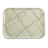 Fiberglass Tray in Gold/Black Swirl Pattern (various sizes)