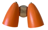 Orange with polished nickel base and fittings
