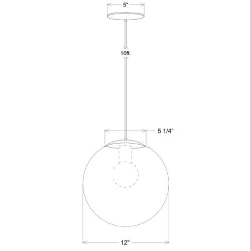 Twelve Inch Globe Pendant
