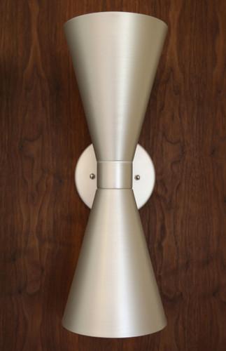 Bowtie Dual Sconce, Anodized Aluminum