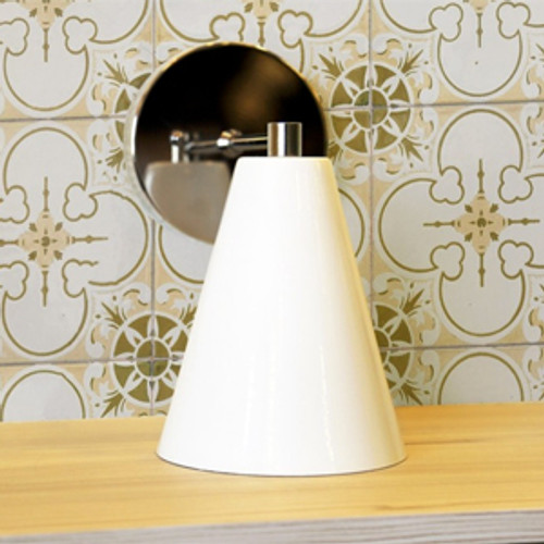 Deluxe Spun Metal Single Sconce
