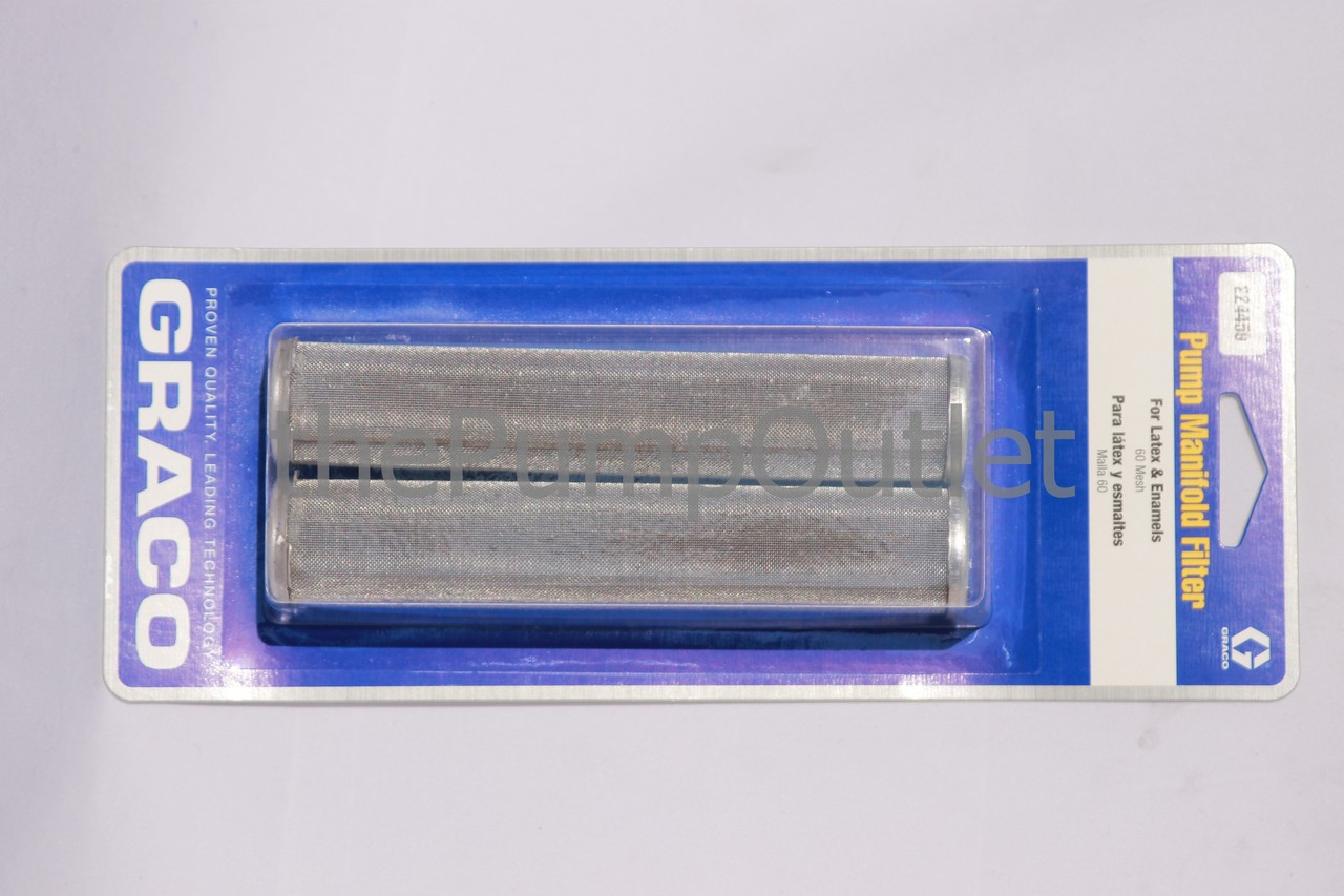 GRACO 224459 Pump Manifold Filter 60 Mesh Latex /& Enamel *OEM Pack of 2