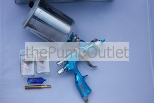 Binks Trophy Gravity Feed HVLP Spray Gun w/ Aluminum Cup 2466-HV1 1.2 1.4 1.8mm