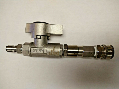 """Stainless Steel Ball Valve With Swivel 3/8"""" 5000 PSI"""