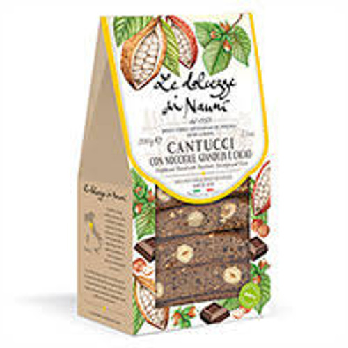 Hazelnut, Gianduia & Cocoa Cantucci (Biscotti) in Gift Box, 7.05 oz