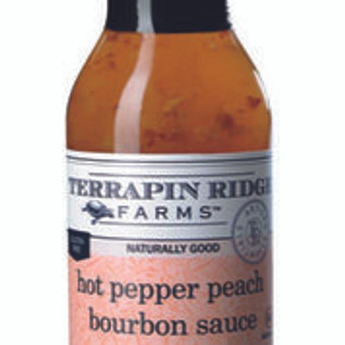 Hot Pepper Peach Bourbon Sauce