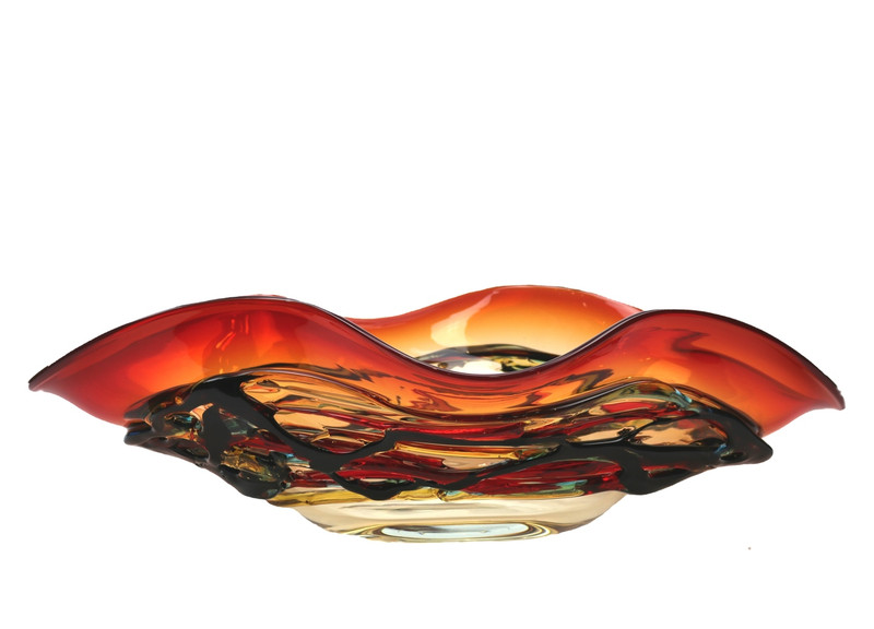Murano Glass Colorado Oval Bowl