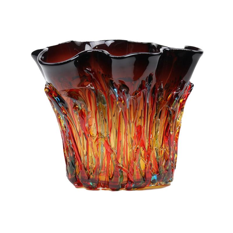 Murano Glass Allegria Handkerchief Vase Amethyst