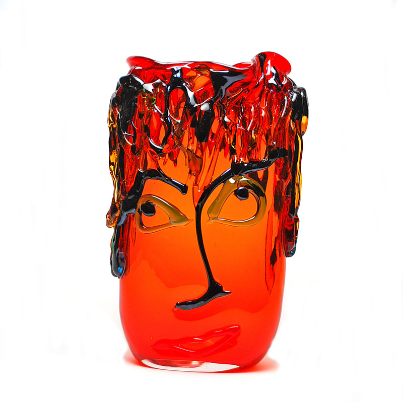 Murano Glass Picasso Tall Oval Vase