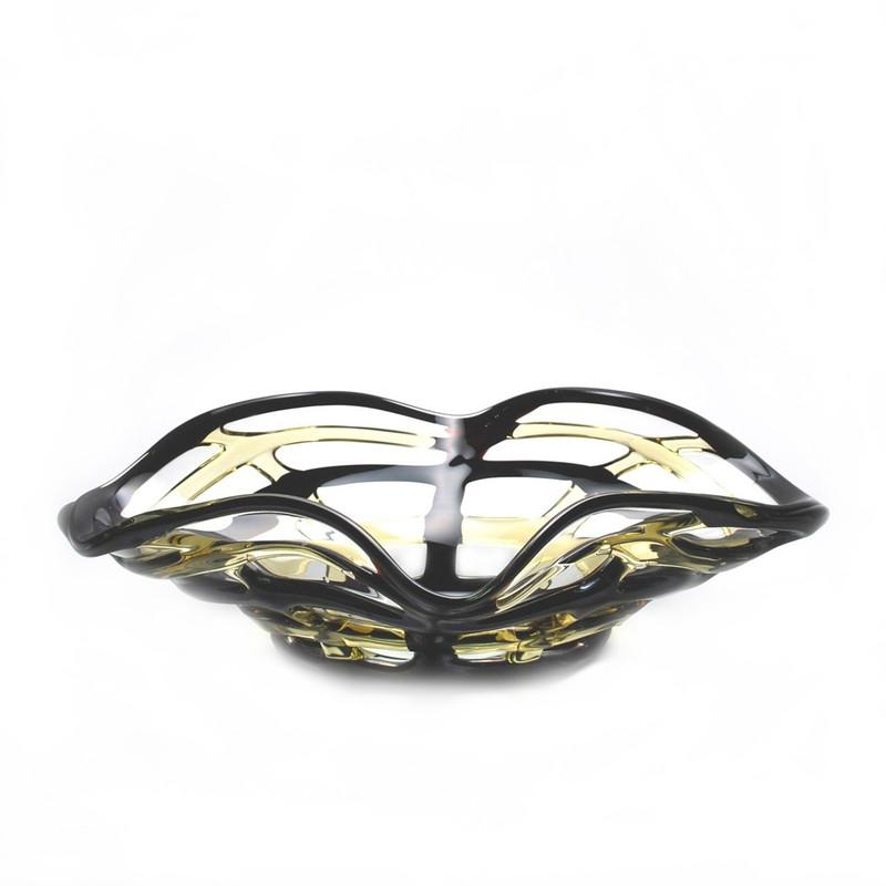 Murano Glass Quadrato Colore Oval Bowl