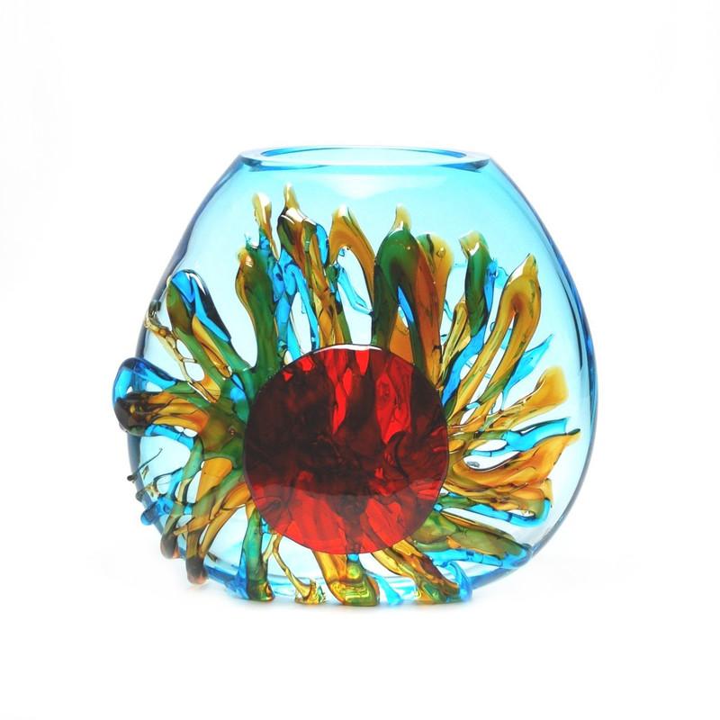 Murano Glass Sun Vase