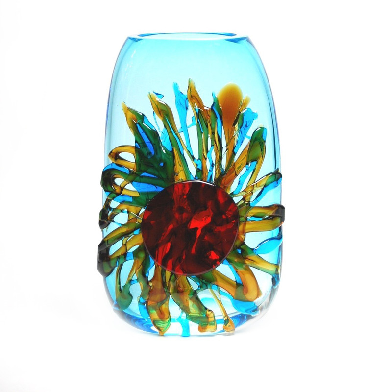 Murano Glass Sun Vase Tall