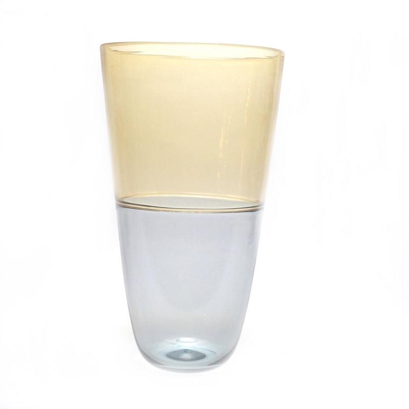 Murano Glass Vase Amber Smoke