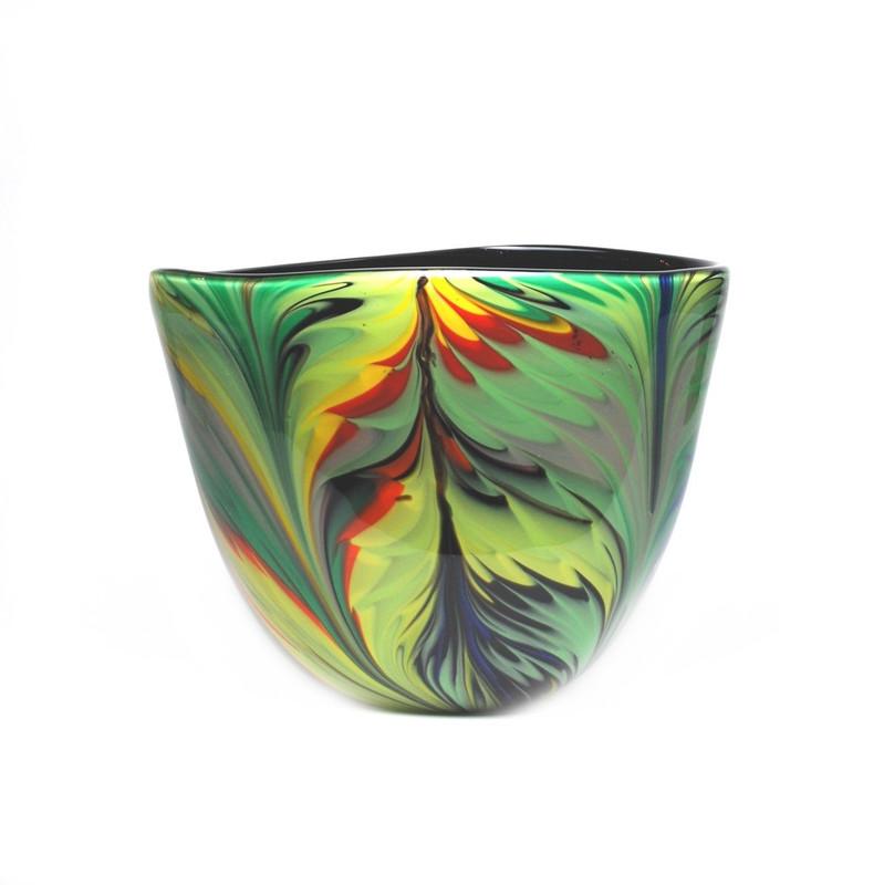 Murano Glass Jungle Vase Multicolor