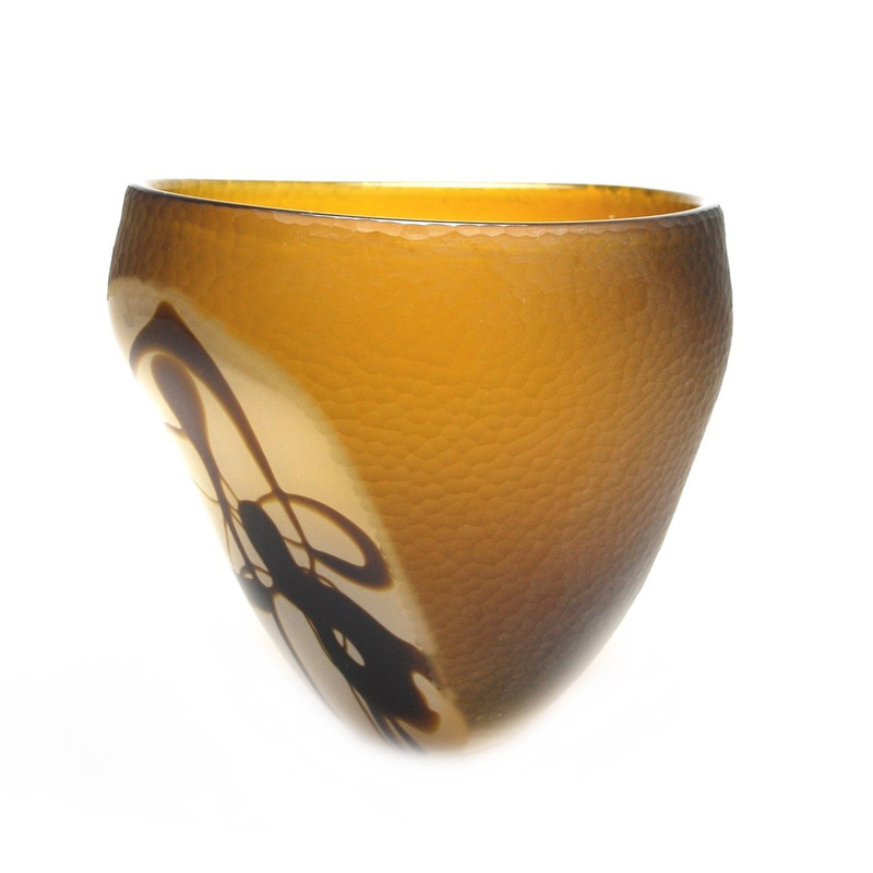 Murano Glass Bowl Battuto
