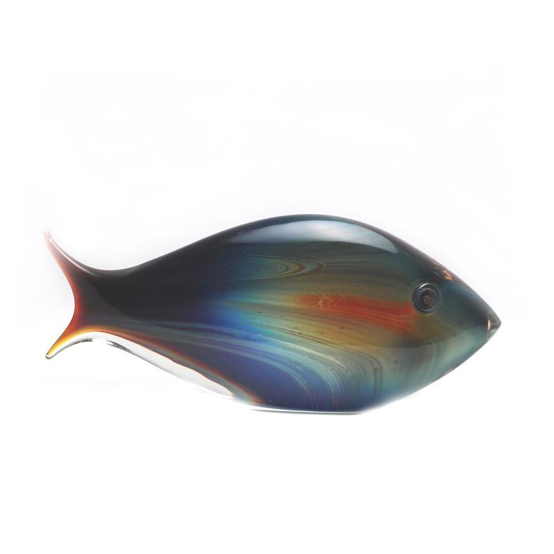 Murano Glass Calcedonia Fish Medium