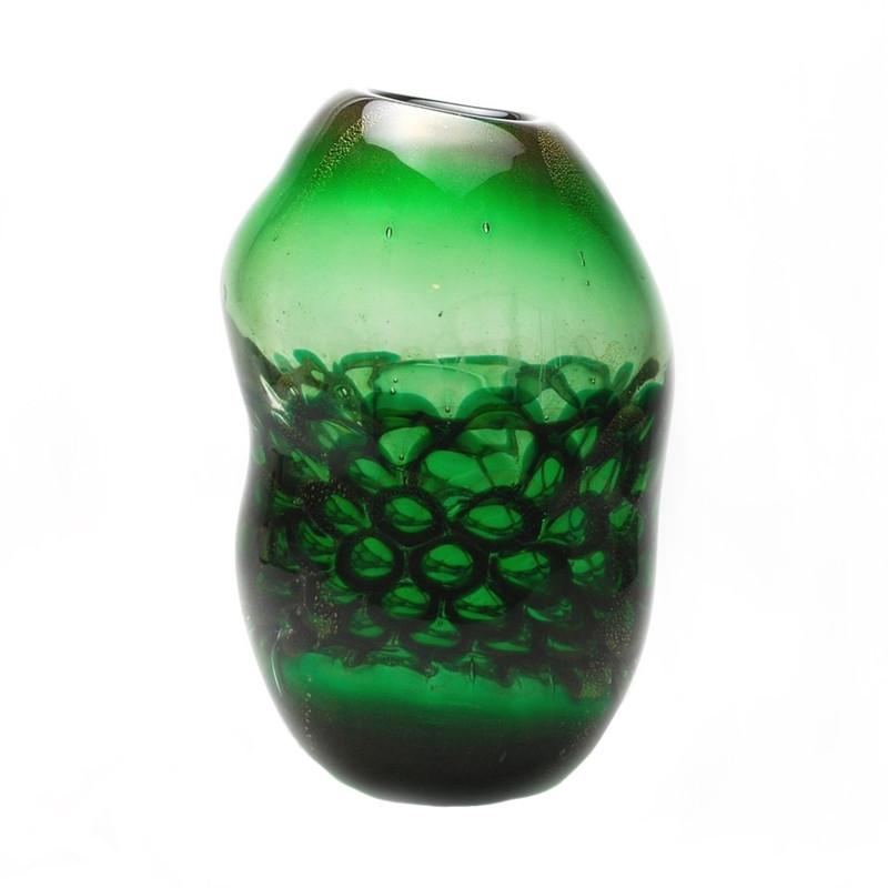 Murano Glass Lombardy Vase Green
