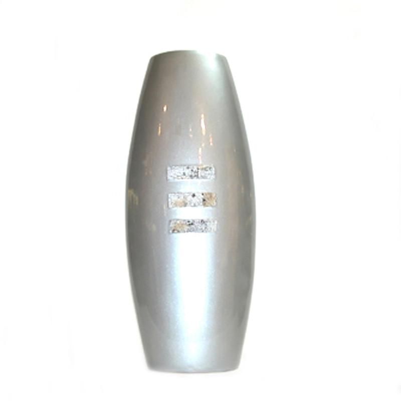 Ceramic Vase Blue Grey Pearl