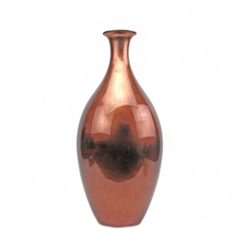 Vermiglio Ceramic Vase Red Copper