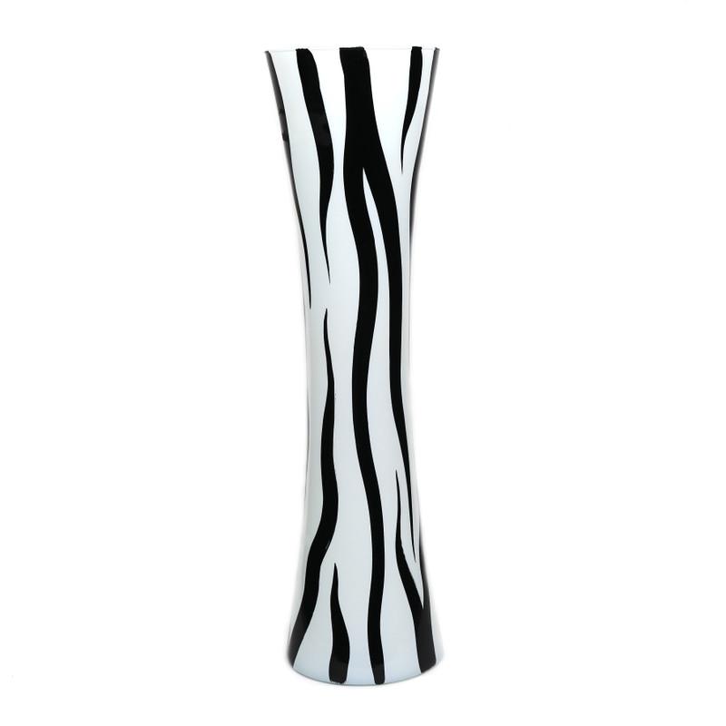 Zebra Vase White Black