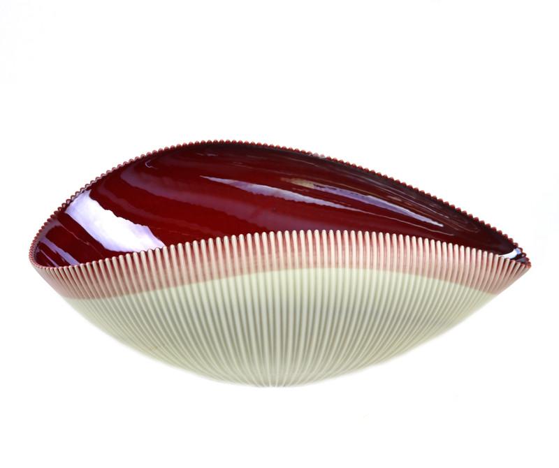 Murano Glass Vermiglio Shell Bowl