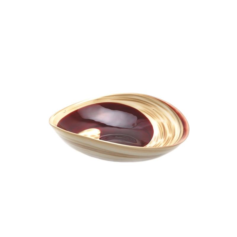 Murano Glass Garnet Tray