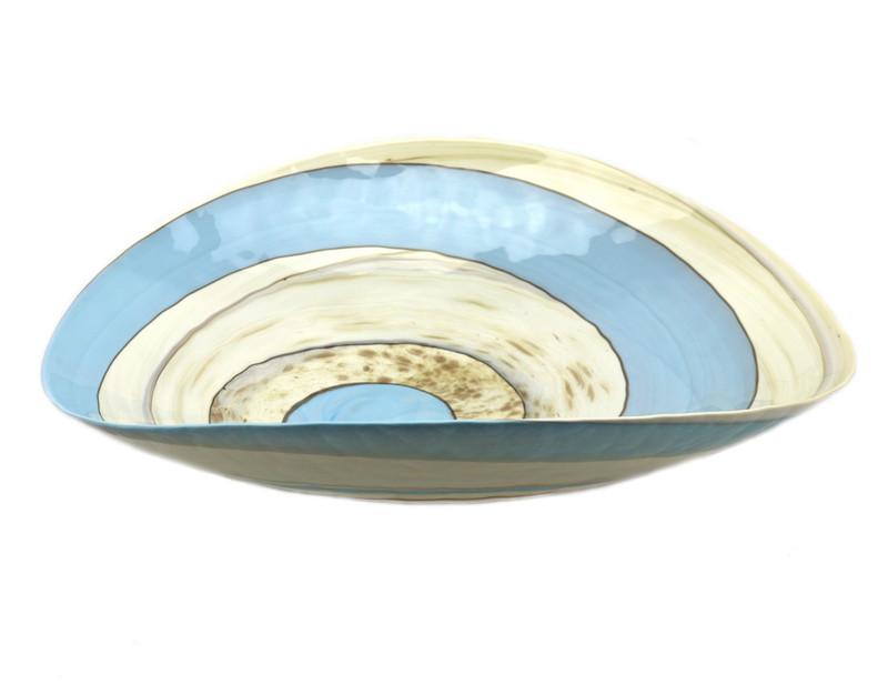 Murano Glass Wave Centerpiece Plate