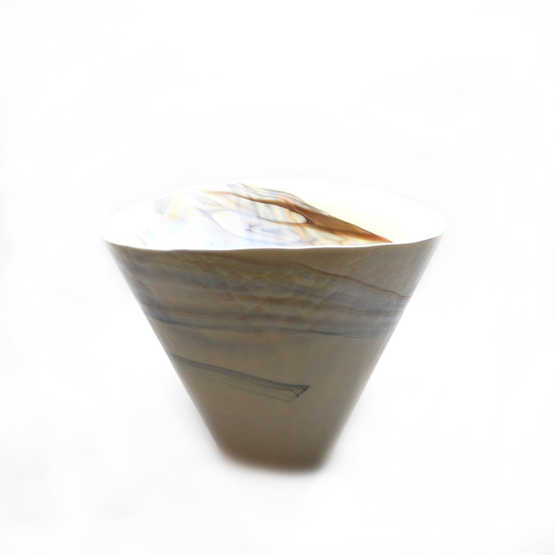 Murano Glass Fossile Vase