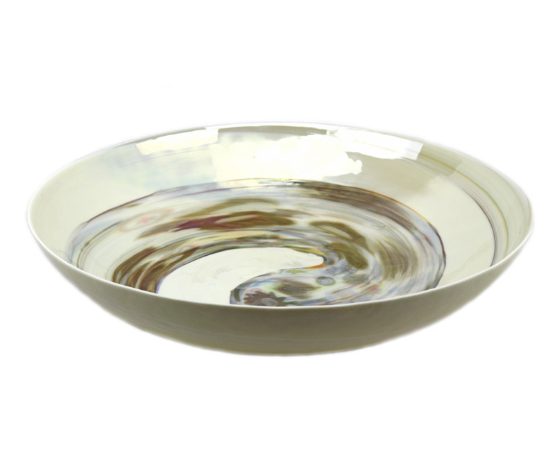 Murano Glass Fossile Centerpiece Bowl