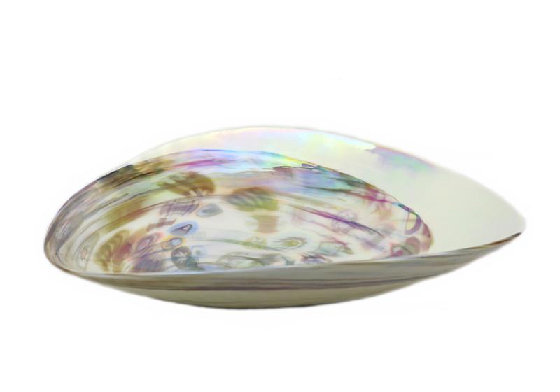 Murano Glass Fossile Centerpiece Plate