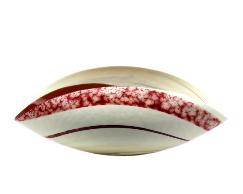 Murano Glass Garnet Bowl