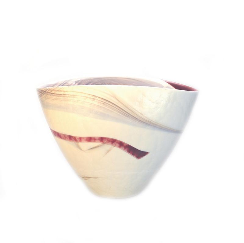 Murano Glass Garnet Vase