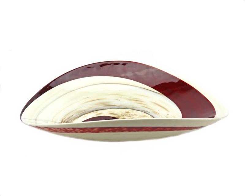 Murano Glass Garnet Centerpiece Plate