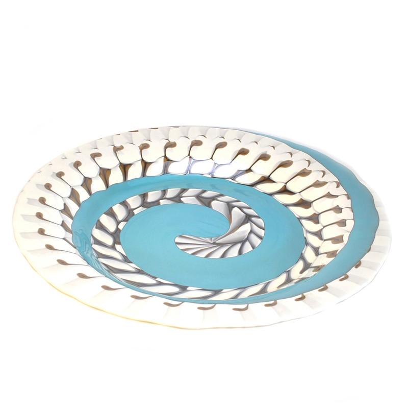 Murano Glass Mykonos Centerpiece Plate