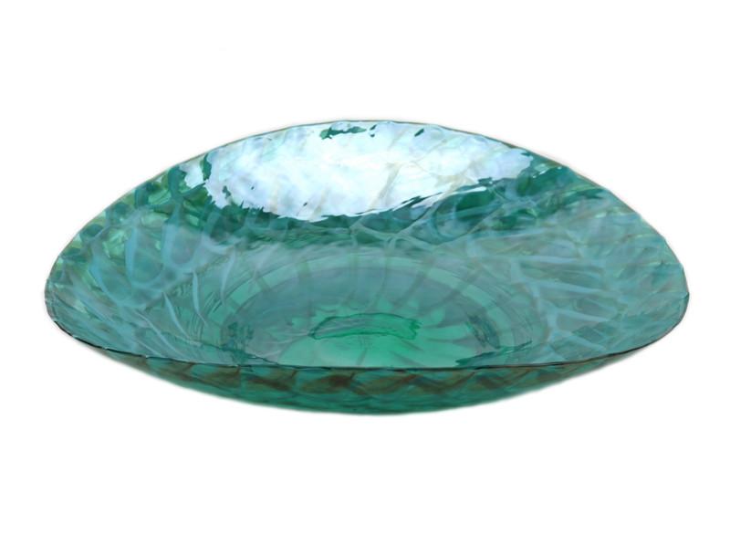 Murano Glass Emerald Shore Centerpiece Plate