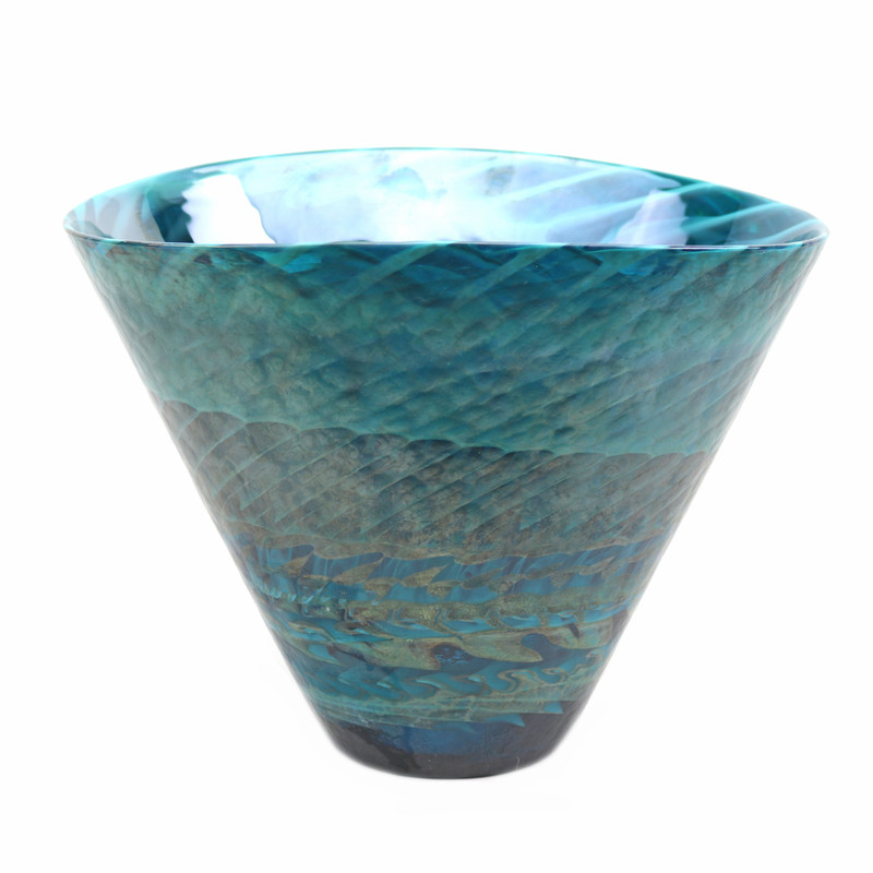 Murano Glass Emerald Shore Vase